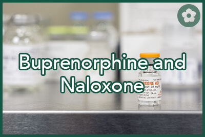 Vial of Naloxone drug which is used for opiate drug overdose