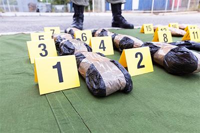 Drug evidence seized during the police raid